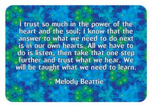 Dooda Creations › Portfolio › Melody Beattie Quote