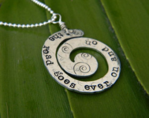 lord of the rings quote necklace