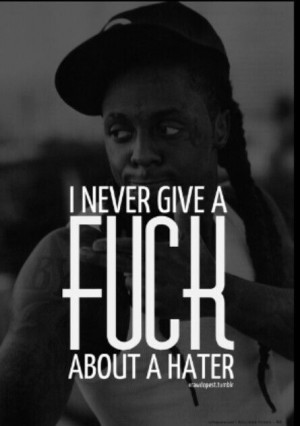 Lil Wayne Not giving a F About a hater.