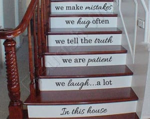 Vinyl Stair Decals - In This House We Do Quote Decals for Staircase ...