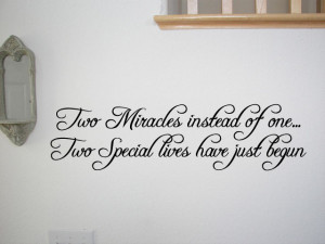 Details about Twins Baby Room Wall Quote Decal Nursery Decor Kids Home ...