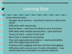Visual Learning Style Characteristics