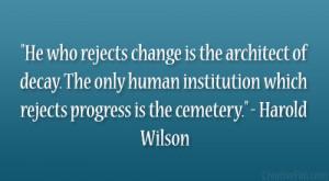 Harold Wilson Quote