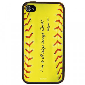 You are here: Home Philippians 4:13 Softball iPhone 4/4s Case