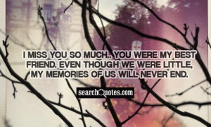 Miss You My Best Friend Quotes ~ I Will Miss You Being My Best Friend ...