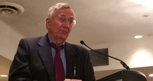 Seymour Hersh speaks at the CAJ conference in Halifax on June 6. DONNA ...