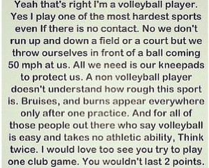 Im A Player Quotes I am a volleyball player