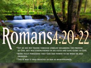 Romans 4:20-22 – God's Righteousness Papel de Parede Imagem