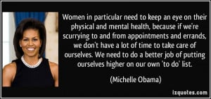 Michelle Obama Quotes On Health