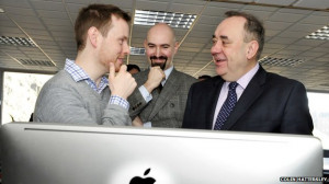 The first minister, right, meets new digital start-ups at Edinburgh's ...