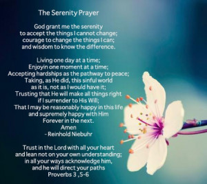 Serenity Prayer with quote from Proverbs