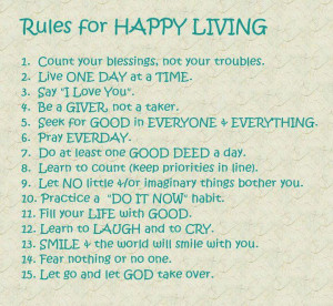 Living a Happy Life : You and only you are responsible for your ...