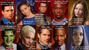Angel From Beginning to End: Quotes Collage