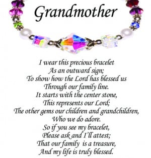 Personalized Grandmothers Story Bracelet by YourHeartsTreasures