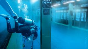 NYC new york surreal Manhattan subway hurricane flood hurricane sandy