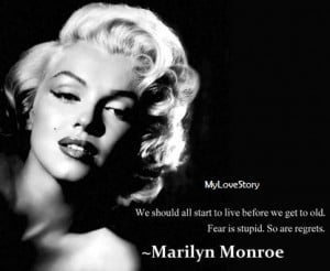 Famous Quotes By Marilyn Monroe   My Love Story