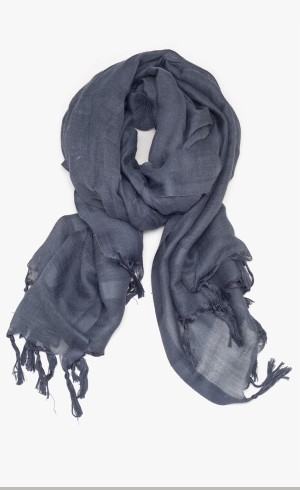 LOVE QUOTES Charcoal Linen Scarf - Grey