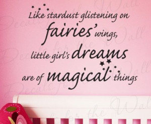 Inspirational Quotes on Wall Decals for Baby's Nursery Room for Girl