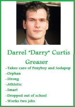 Darry Curtis Trading Card~ The Outsiders by jasmineweasley