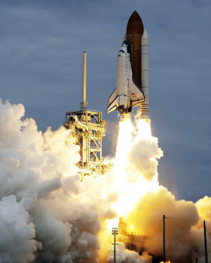 ... the International Space Station on Nasa's last space shuttle mission