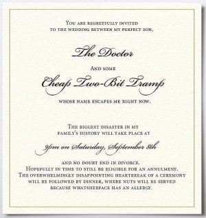Hate My New Daughter-in-Law Wedding Invitation