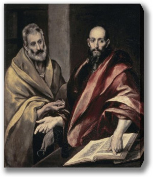 Apostles St. Peter and St. Paul (22in x 18.707in Stretched Canvas)