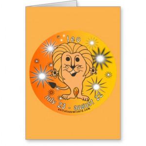 Leo Birthday Card