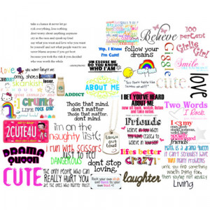 cute sayings - Polyvore