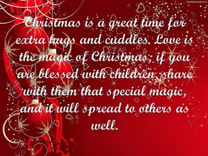 Christmas Is A Great Time For Extra Hugs And Cuddles. Love Is The ...