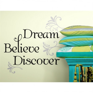 Dream, Believe, Discover Quote Wall Stickers
