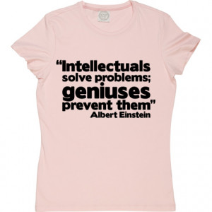 Albert Einstein Genius Quote Baby Pink Women's T-Shirt. Demonstrate ...