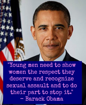 ... quotes from men who take a stand against violence against women