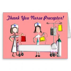 Nurse Preceptor Thank You Cards