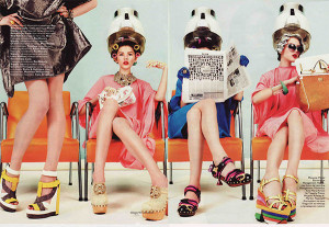 Vogue Russia - At the hairdressers
