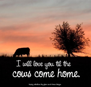 cow valentine