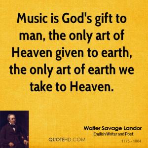 Walter Savage Landor Music Quotes