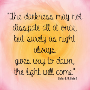 love this thought from Elder Uchtdorf's talk from General Conference ...