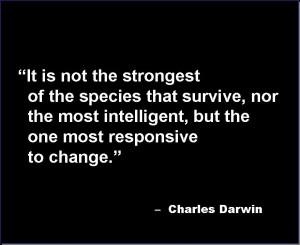 Darwin Quote Wallpaper...