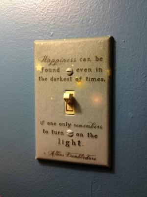 albus dumbledore, harry potter, hogwarts, lights, quote
