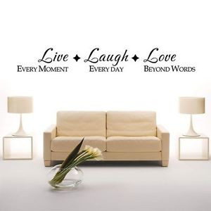... laugh Vinyl Wall Decal Quote Sticker lettering Art Decor living room