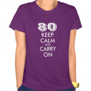 80th Birthday t shirt for women | Customizable age