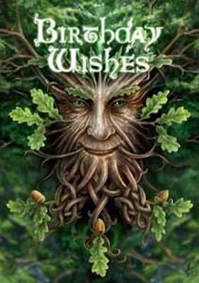 Birthday Wishes Oak King PAGAN Greeting Card