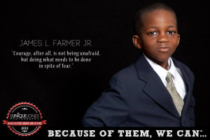 "... doing what needs to be done in spite of fear."" - James L. Farmer Jr"