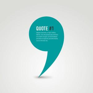 Quote Vector Graphic — stylish, minimal