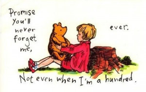 Cute Illustration Love Pooh Quote Vintage Winnie the pooh a hundred ...