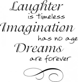 Laughter Is Timeless Wall Decals