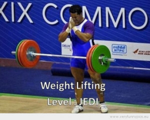 Funny Picture - Weight lifting level jedi