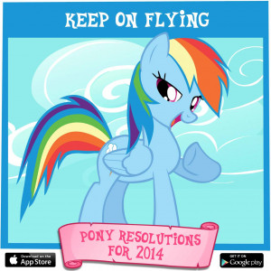 Rainbow Dash's pony resolution for 2014: