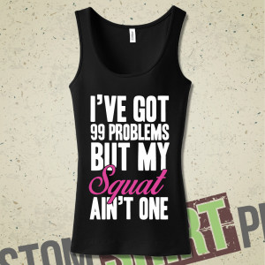 Funny Squat Workout Quotes Workout tank squats