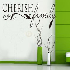 Cherish Family Quotes Room Decal Home Decor Wall Sticker